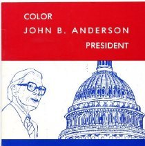 Image of Book, Coloring - Color John B. Anderson President