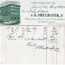 "Image of Invoice - Invoice, ""S. Shuler, Plumber"""