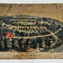 Image of Lithograph - Birds Eye View of Mt. Vernon, The Home of Washington