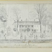 Image of Drawing - Head Quarters at Camp Dick Robinson