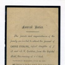 Image of Announcement, Funeral