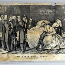 Image of Print - Death of President Lincoln