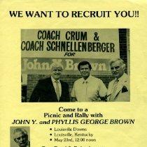 Image of Flier, Political - Poster, J.Y. Brown