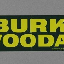 "Image of Sticker, Bumper - Bumper Sticker, ""Vote Burke/Woodall"""