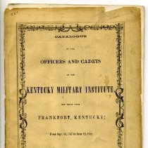 "Image of Catalog - ""Catalog of the Officers and Cadets, Kentucky Military Institute"""