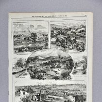 "Image of Engraving, Wood - Magazine illustration, ""Views of the Hermitage and Old Crow Distilleries, Frankfort"""