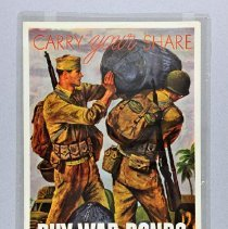 Image of Poster - Carry Your Share / Buy War Bonds