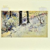 Image of Painting - Snow Scene (in the Cemetery)