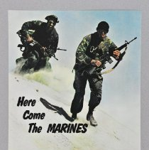 """Image of Poster - Poster,  """"Here Come the Marines, lean, hard and fast"""""""