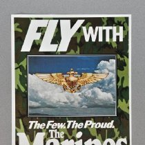 """Image of Poster - """"Fly with the Few, The Proud, The Marines"""" recruiting poster"""