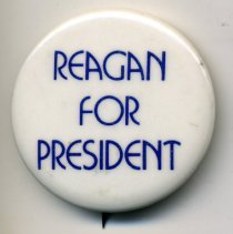 Image of Button, Political - Button, Ronald Reagan