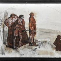 Image of Painting - Daniel Boone & Companions