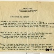 Image of Poem - In Far-famed Old Kentucky