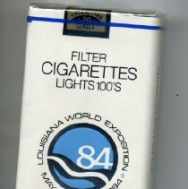 Image of Cigarette - Package of Louisiana World Exposition filter cigarettes, 100s
