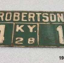 Image of Plate, License