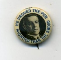 Image of Button, Political - Button, Woodrow Wilson
