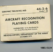 Image of Card, Playing - Vehicle & Aircraft Identification Training Aids