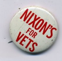 Image of Button, Political - Button, Richard Nixon