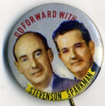 Image of Button, Political - Button, Stevenson-Sparkman