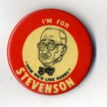 Image of Button, Political - Button, Stevenson