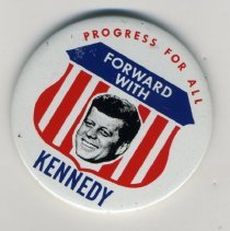 Image of Button, Political - Button, John F. Kennedy