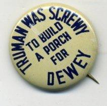 Image of Button, Political - Button, Truman Was Screwey...