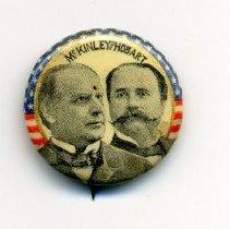 Image of Button, Political - Political button, William McKinley/Garret Hobart