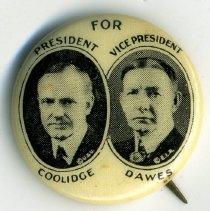 Image of Button, Political - Button, Coolidge-Dawes