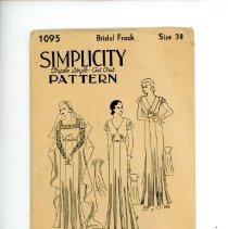 Image of Pattern - Simplicity Pattern, #1095, Bridal Frock