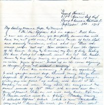 Image of Letter - Letter from Charles L. Bean to Family in 1918
