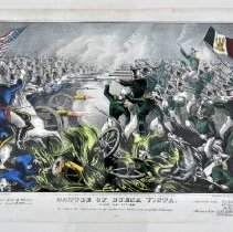 Image of Lithograph - Battle of Buena Vista