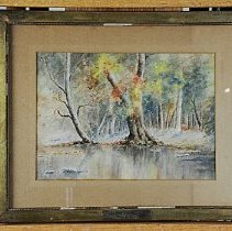 Image of Painting - Sycamores along the Elkhorn