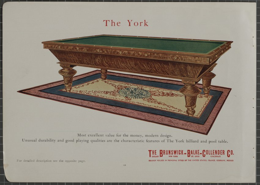 Catalog Mail Order - Brunswick monarch pool table value