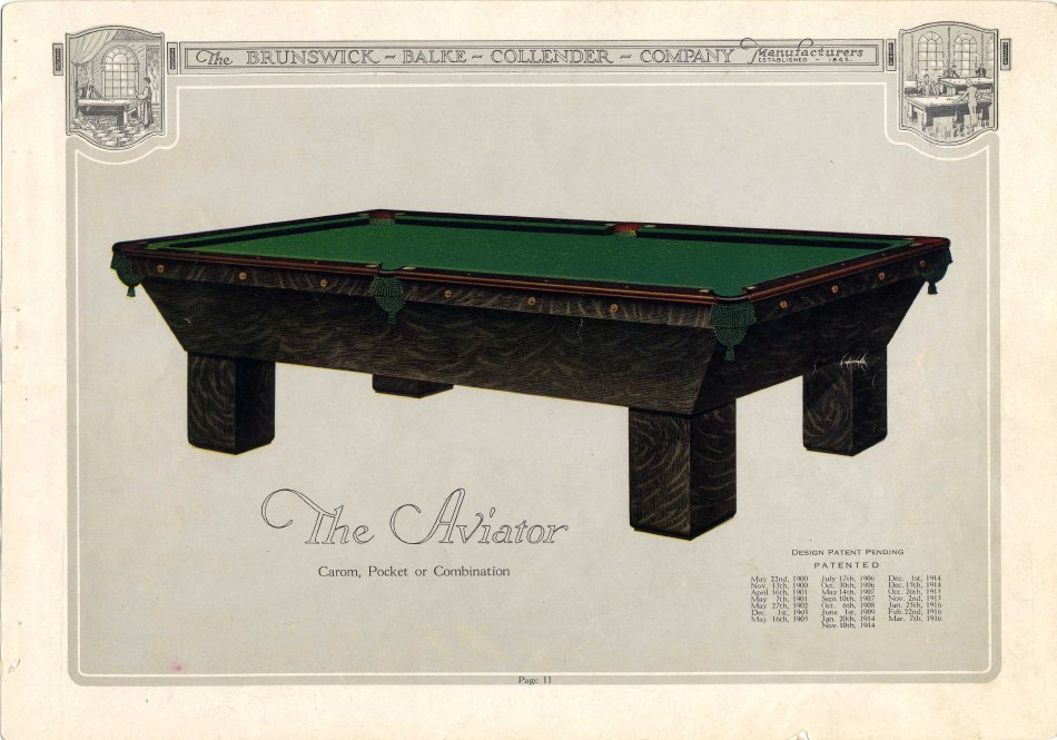Catalog Mail Order - Brunswick brentwood pool table