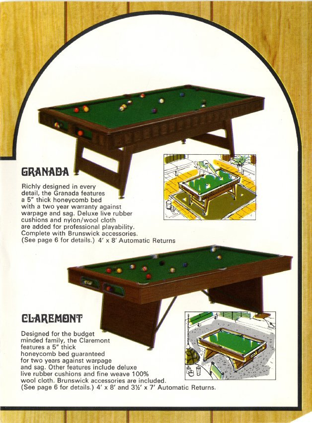 Catalog Mail Order - Honeycomb pool table