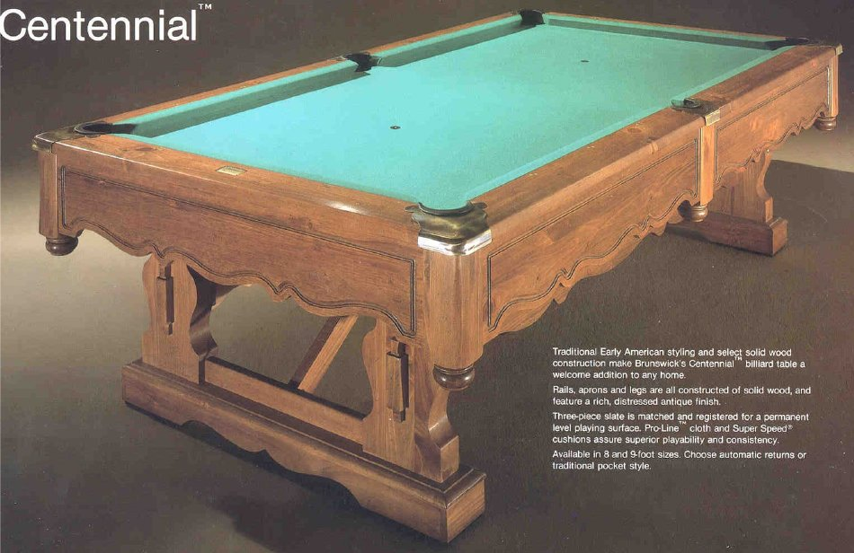Table - Brunswick 9 foot pool table