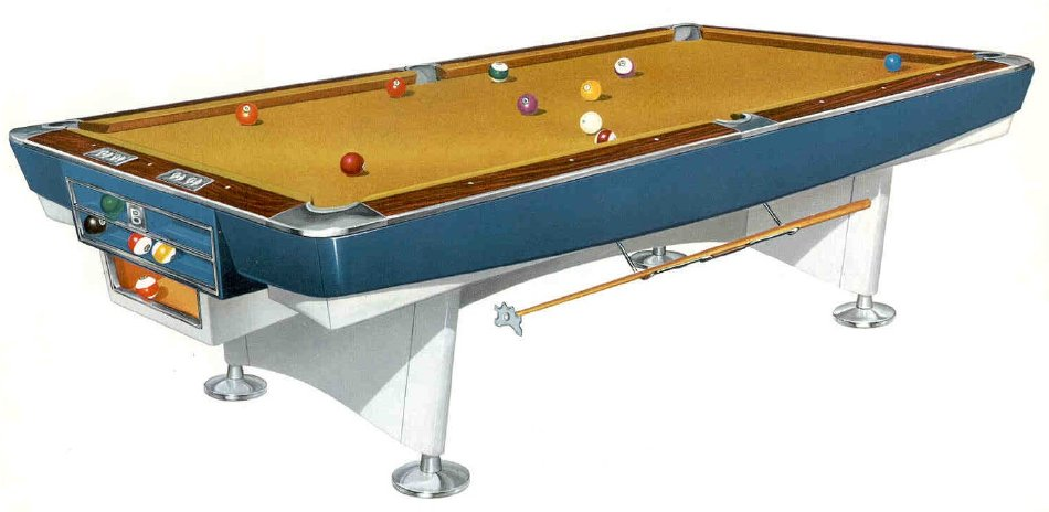 Table - Brunswick monarch pool table