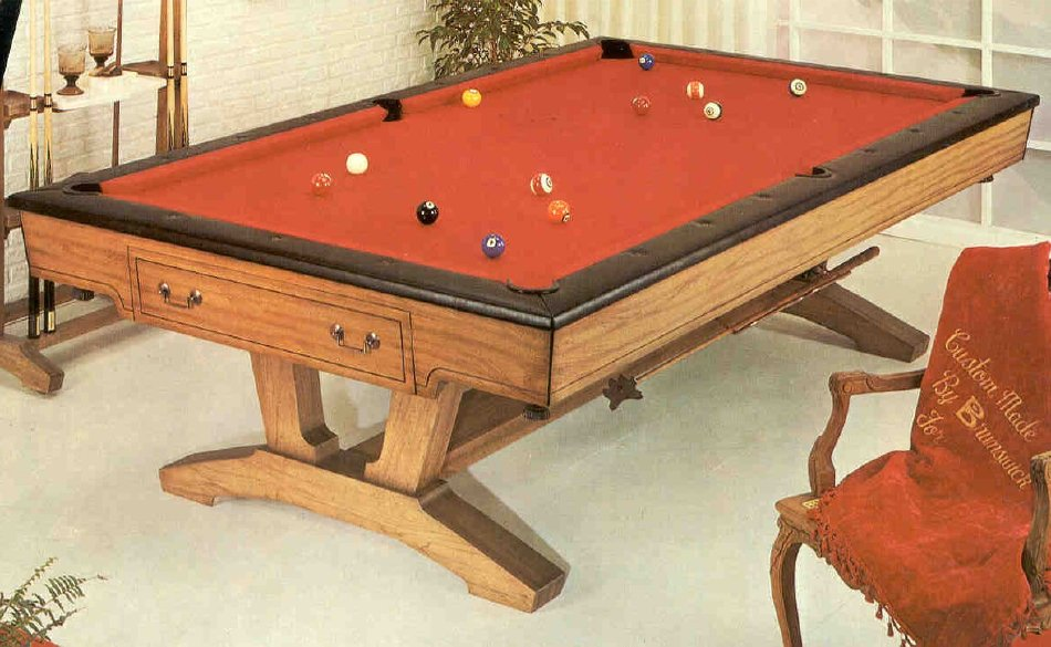 Table - Brunswick dunham pool table