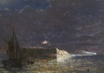 Image of PAINTING - Night Bombardment Dec. 10 1863