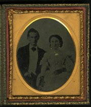 Image of Ambrotype - Unidentified Group (Man and Woman)