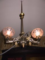Image of Chandelier and Fixture, Gas