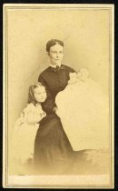 Image of Carte-de-visite - Julia Ann Mitchell Coggill with children, Ella Virginia Coggill and George Coggill III