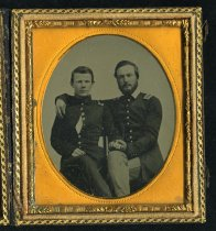 Image of Ambrotype - Richard Kidder Meade, Jr. and Unidentified Soldier