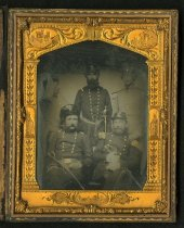 Image of Ambrotype - Samuel Bassett French, Alexander Galt Taliaferro, William B. Taliaferro, O. Jennings Wise, and unidentified soldier