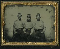Image of Ambrotype - Richard Latimer Dobie, James R. Parham, and Unidentified Soldier