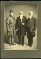 Image of Unknown - Henry E. Wood, Robert Withers, and Unidentified Veteran