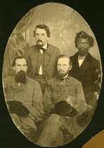 Image of Print, Photographic - Group of Confederate Surgeons and Negro Body Servant