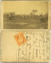 Image of Carte-de-Visite - Artillery in Mexico [wagons]