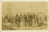 Image of Carte-de-Visite - Davis and Generals [at Bull Run, 1861]