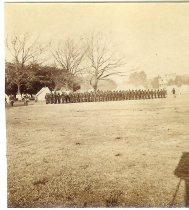 Image of Print, Photographic - Unidentified African American Soldiers on Review